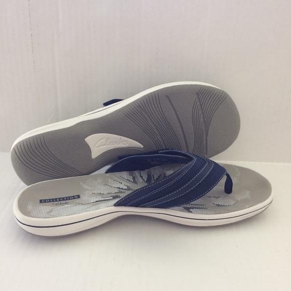 589e3d31823 Clarks Shoes - Clarks Navy Blue Breeze Sea Flip Flops Sandals 11